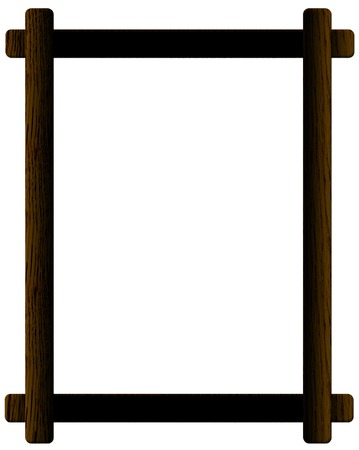 panting: Black wooden picture frame isolated on white background Illustration
