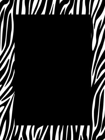 bordure de page: Leopard  zèbre frontières  cadre. Imprimé animal de texture de la peau Illustration