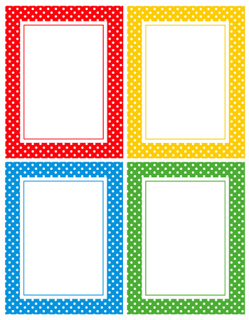 Pois seamless ou cadre de texture pour les invitations de douche blogs, www, scrapbooks, fête ou bébé Banque d'images - 38909472