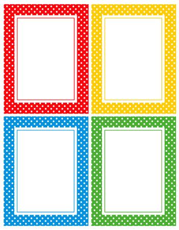 Stippen naadloze patroon of textuur frame voor blogs, www, plakboeken, partij of baby shower uitnodigingen
