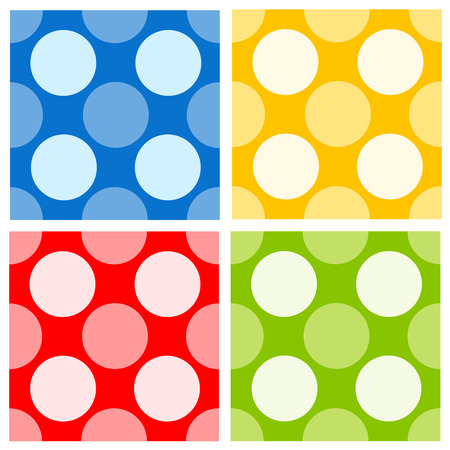 specially: Colorful seamless polka dots pattern collection specially for invitation or party backgrounds