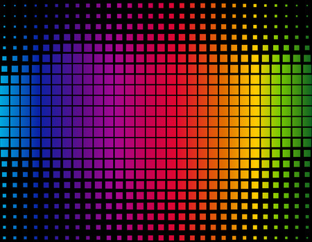 A colorful abstract background composed of squares. Vector