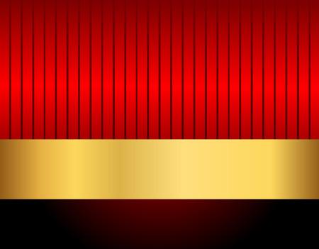 Elegante rode en gouden retro achtergrond met frame Stock Illustratie