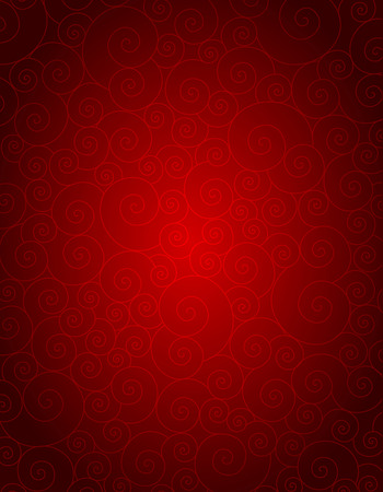 ornamental background: Elegant red spiral background specially for wedding , valentines day themed designs