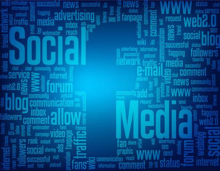 keywords backdrop: Social media keyword