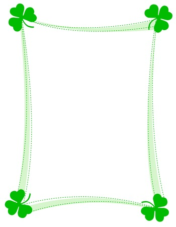 St. Patricks day background , frame with green clovers Vector