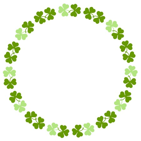 leprechaun background: Green clover st. Patricks Day Background  circle frame