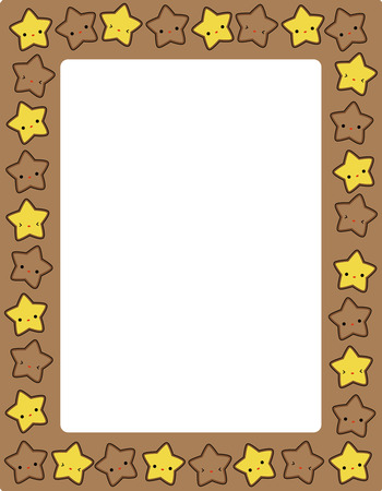 star clipart: Cute colorful stars border  frame for greeting cards, party invitation backgrounds etc