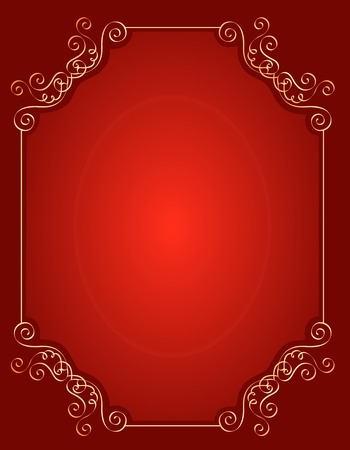 baroque border: Elegant gold and red  maroon color blank  empty background . perfect as stylish wedding invitations and other party invitation cards or announcements