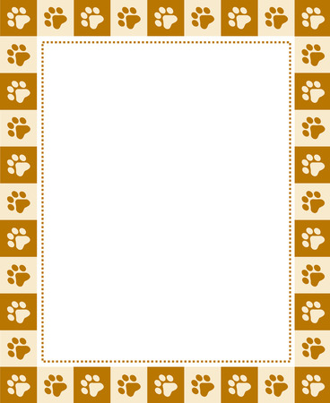 Cute Pet Lovers Dog Cat Lover Page Border Frame On Whte