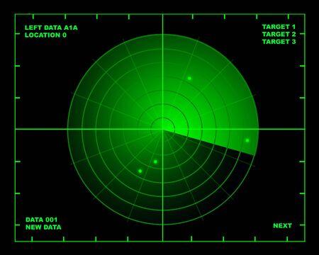 radar: Illustration of radar on black background