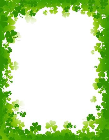 Green clover st. Patricks Day Background  Border photo