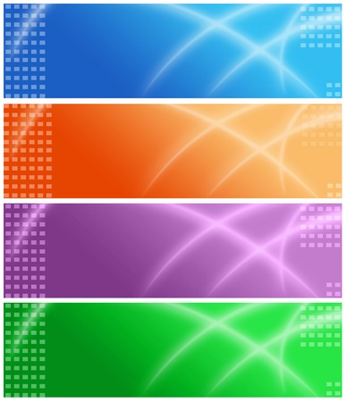 website backgrounds: Set of colorful web site headers  banners for travel , business or technology related web sites