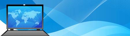 Tête du site / de la bannière. Technologie, multimédia et l'ordinateur Création numérique Illustration des en-têtes de site Web Banque d'images - 38910775