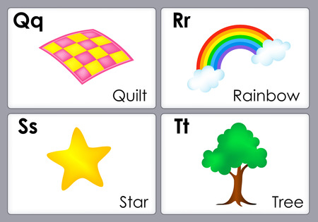 flash card: Alphabet with colorful pictures printable flash card collection