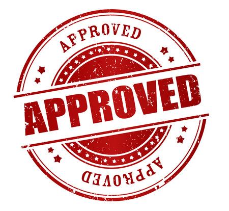 proved: Red grunge approvato timbro di gomma isolato su sfondo bianco