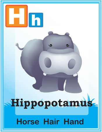 representations: Animal alphabet with cute animals and capital and simple letters with similar words illustration. Specially for preschool children learning books. Illustration
