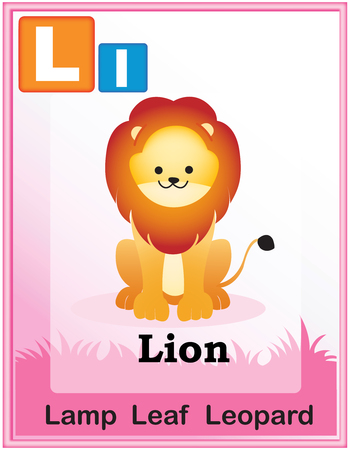 animal alphabet: Animal alphabet with cute animals and capital and simple letters with similar words illustration. Specially for preschool children learning books. Illustration