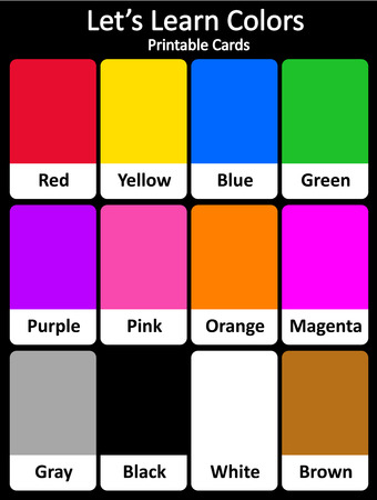 early childhood: Printable flash card colletion for colors and their names for preschool  kindergarten kids | lets learn colors