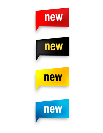 new realistic web button collection isolated on white