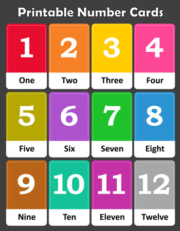 early childhood: Printable flash card colletion for numbers and their names for preschool  kindergarten kids | lets learn numbers