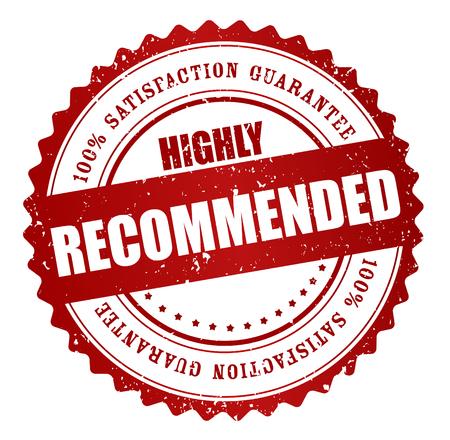 recommended: Highly Recommended stamp, Sticker, Label or Badge Isolated on White Background Illustration