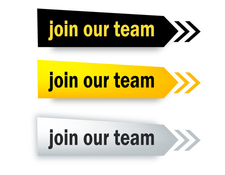 join our team: Join our team speech bubble  web button collection isolated on white