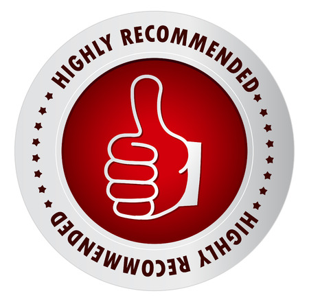 highly: Highly Recommended stamp, Sticker, Label or Badge Isolated on White Background Illustration