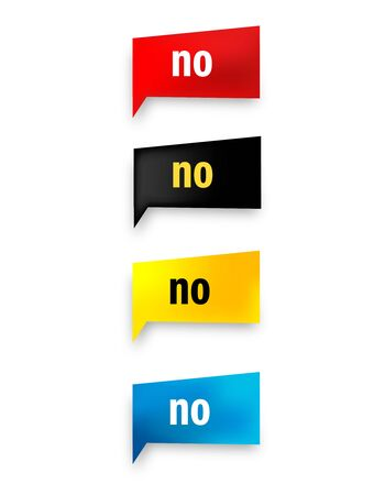 internet mark: No web button collection isolated on white