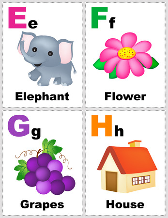 printable: Alphabet printable flashcards collection with letter E F G H
