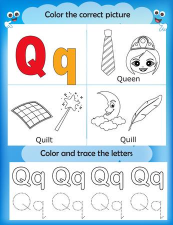 Las Letras Del Alfabeto De Aprendizaje Y De Gráficos Para Colorear ...