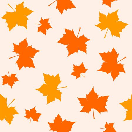 leafs: Seamless pattern with maple leafs