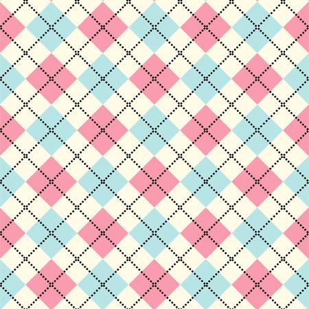 argyle: Argyle pattern. Diamond shapes background. Vector