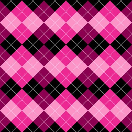 rosa negra: patrón de rombos sin problemas. Diamond formas de fondo. Vector