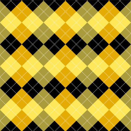 argyle: Seamless argyle pattern. Diamond shapes background. Vector