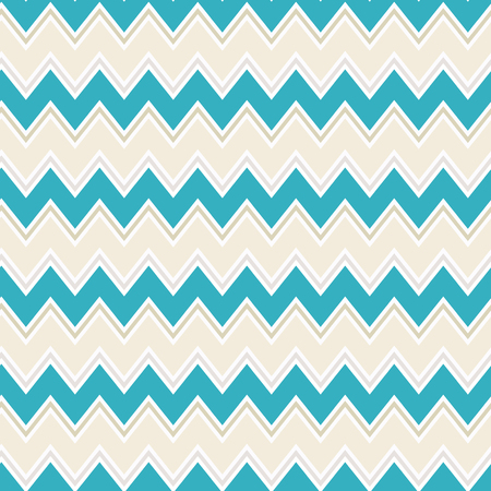 Seamless colorful zigzag chevron / herringbone pattern background. Stock Illustratie