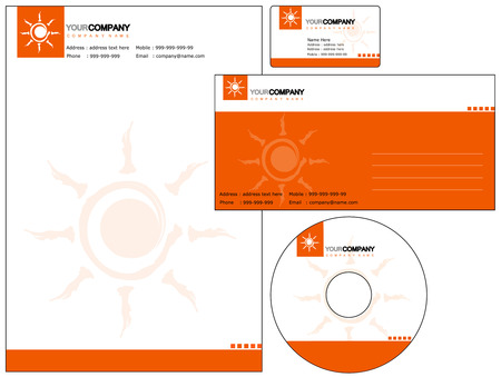 customize: Set of corporate identity items. easy to customize letterhead envelope CD DVD cover and business cards