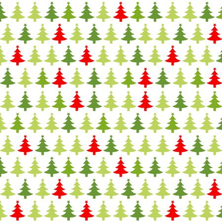 christmas red: Christmas pattern with red green christmas trees