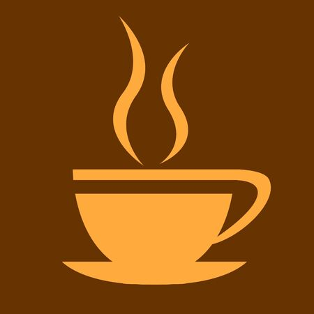Silhouette of coffee cup isolated on white background for restaurant logo