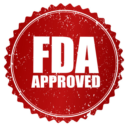 rubberstamp: Grunge red rubber stamp or badge with text FDA Approved. Illustration