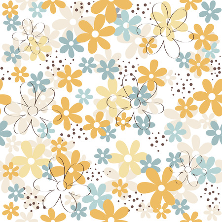 Flower  floral seamless pattern
