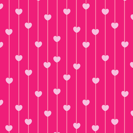 Pink hearts seamless pattern love background