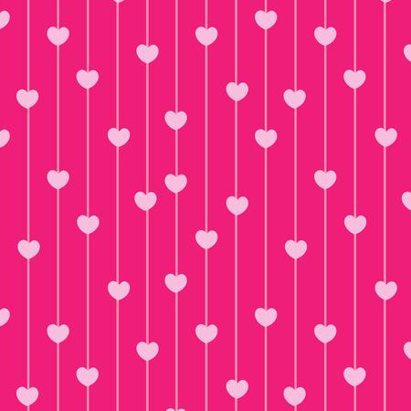Corazones de color rosa patrón transparente del fondo del amor Foto de archivo - 62407488