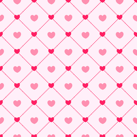 heart month: Pink hearts seamless pattern love background