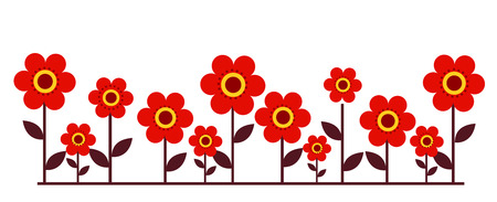 flower bed: Flower bed Illustration