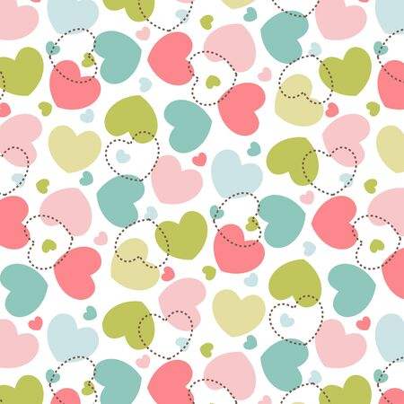 Hearts pattern love background