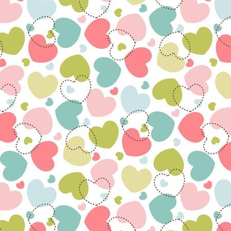 Hearts pattern love background Illustration