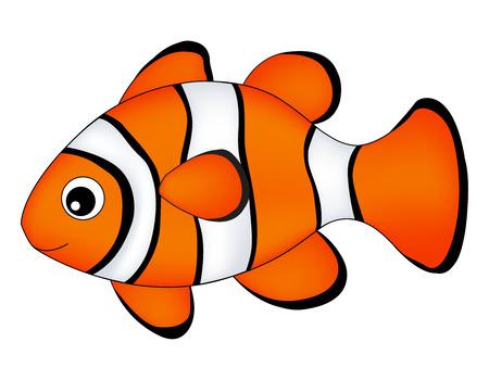 Rafa ryby / klaun ryby pojedyncze ryby na bia? Ym tle Ilustracje wektorowe