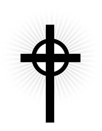 religion catolica: Vector black cross icon on white background