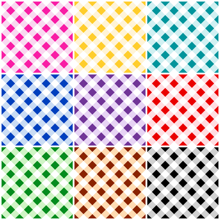 gingham pattern: Colorful plaid  gingham seamless pattern  texture collection